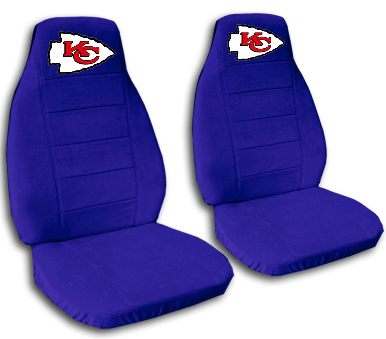 2 Dark Blue Kansas City seat covers for a 2007 to 2012 Chevrolet Silverado. Side airbag friendly.