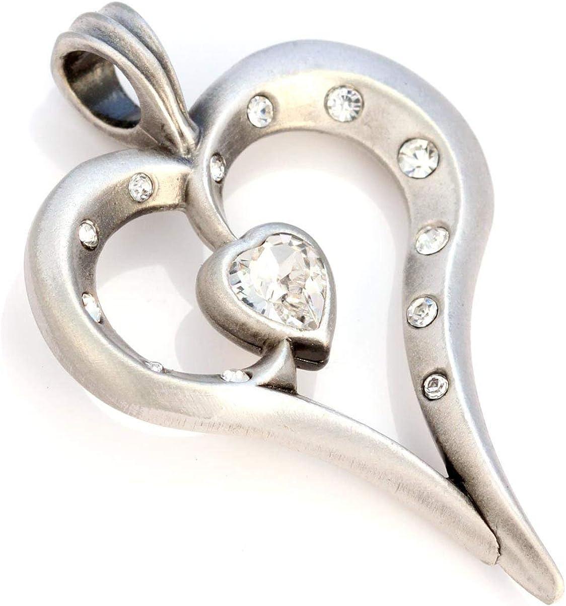 Bico Romy Pendiente de Cristal (CR36) - Delicada Belleza, corazón Intenso - Cristal Swarovski Corazón Joyeria