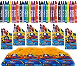 4E's Novelty 384 Crayons! 48 Packs of 8 Crayons for Kids Bulk -Non-Toxic- 8 Colors in Each Crayon Box, Premium Crayons, Great Party Favor, Arts and Crafts Supplies for Toddlers, Goodie Bag Filler