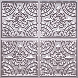 Cheape Decorative Plastic Ceiling Tile 205 Silver Tin Ul Rated C