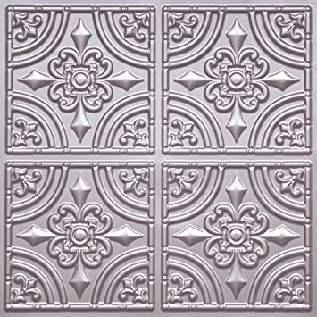 cheape decorative plastic ceiling tile 205 silver tin ul rated can be glue on any - Decorative Ceiling Tiles