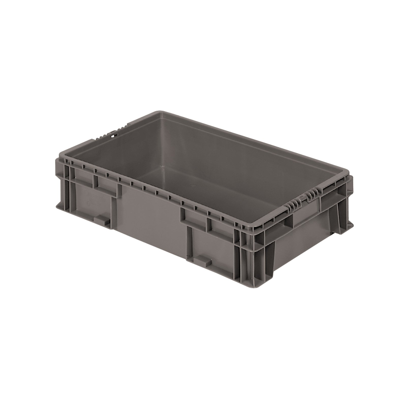 Buckhorn SW2415060206000 Plastic Straight Wall Storage Container Tote, 24-Inch by 15-Inch by 5.5-Inch, Dark Grey