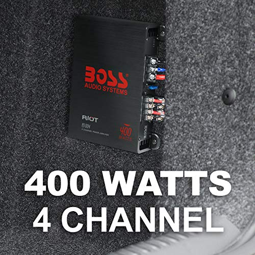 BOSS Audio Elite R1004 4 Channel Car Amplifier – 400 Watts, Full Range, Class A/B, 2-4 Ohm Stable, Great For Car Speakers and Car Stereo by BOSS Audio Systems (Image #2)