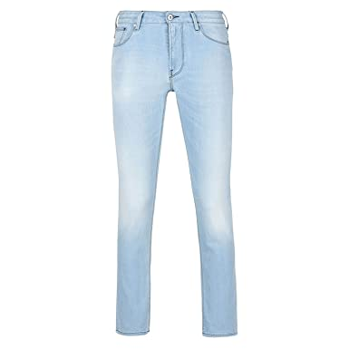 6bfef2bb85e Amazon.com  ARMANI JEANS 3Y6J45 Slim Fit J45 Light Wash Jeans W40 - L32 Light  Wash  Clothing