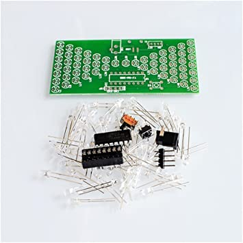 5V Electronic Hourglass DIY Kit Funny Electronic Production Kits with LED