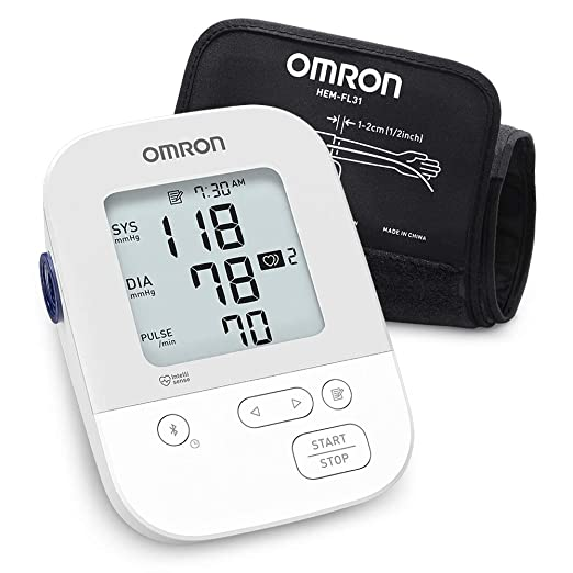 Omron Healthcare Silver Wireless Upper Arm Blood Pressure Monitor