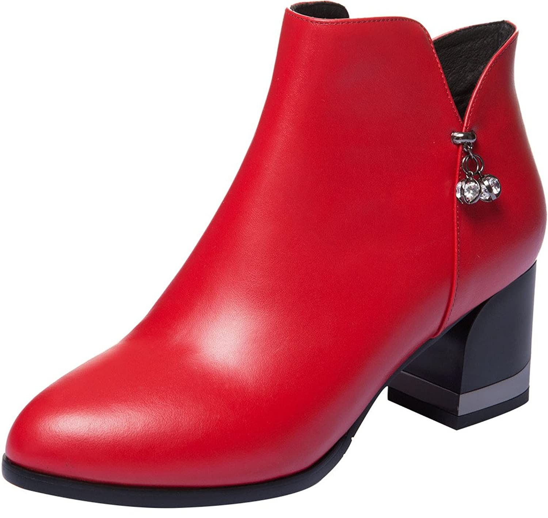 ELEHOT Womens Elefountain 6CM mid-heel Boots