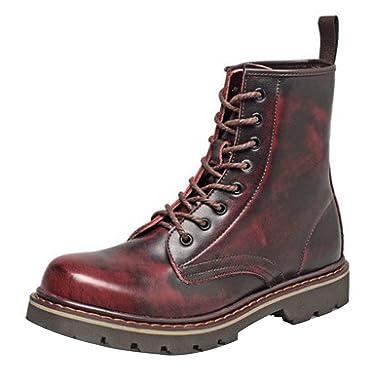 enorme sconto ed00e b9550 Uomini Stivali Stivali Martin Retro Pelle Scarpe: Amazon.it ...