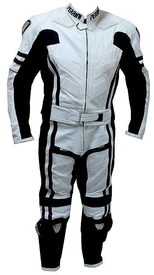 Amazon.com: Perrini Ghost traje de piel para motociclista ...