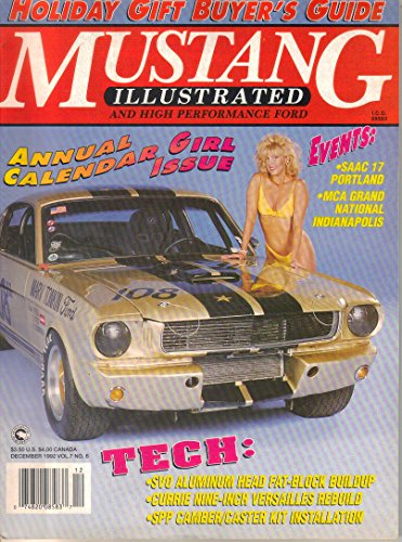 Mustang Illustrated and High Performance Ford Magazine, December 1992 (Vol. 7, No. 6) (Gta 5 Model Cars)