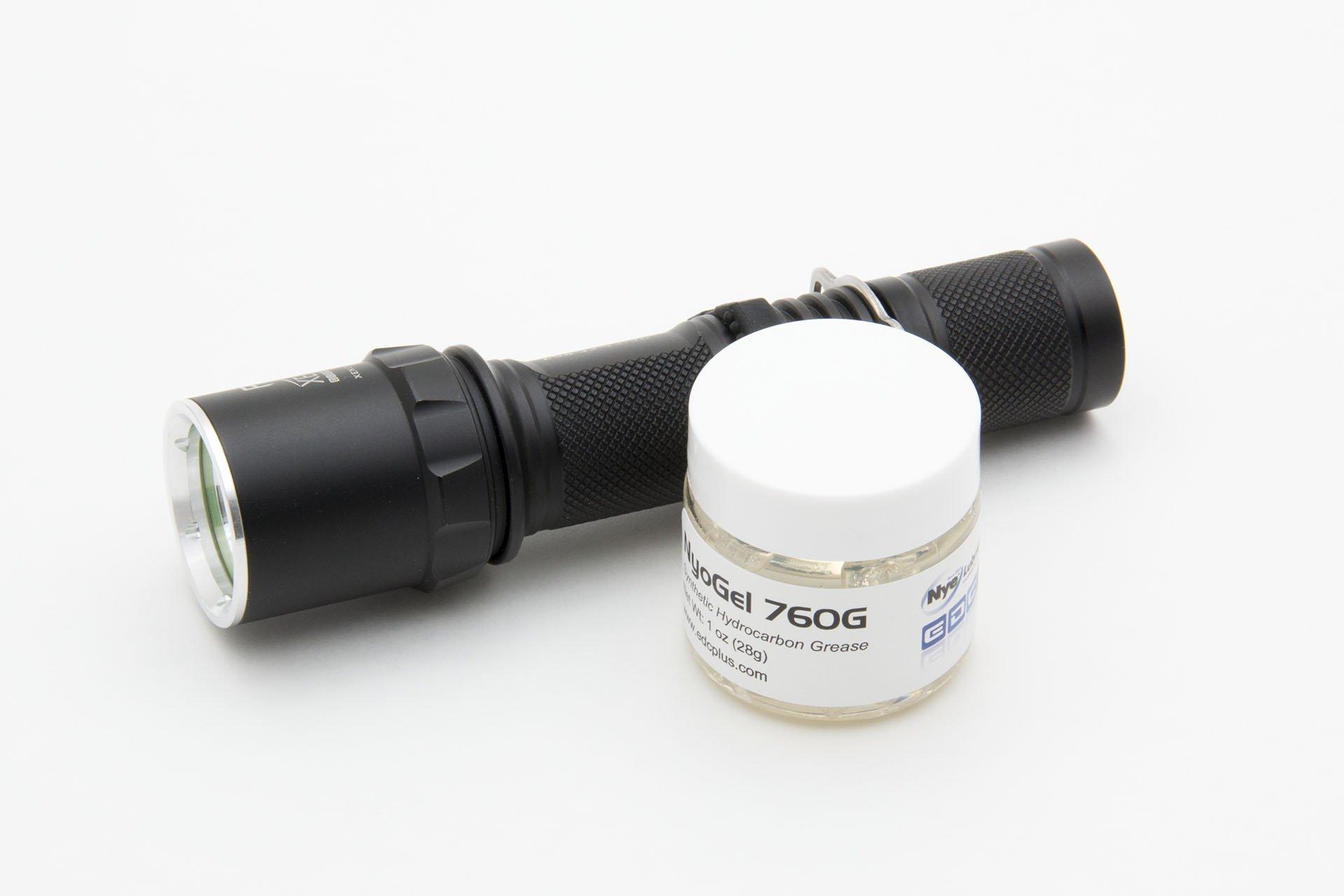 NyoGel 760G Synthetic Flashlight Silicone Lubricant grease 1oz Jar