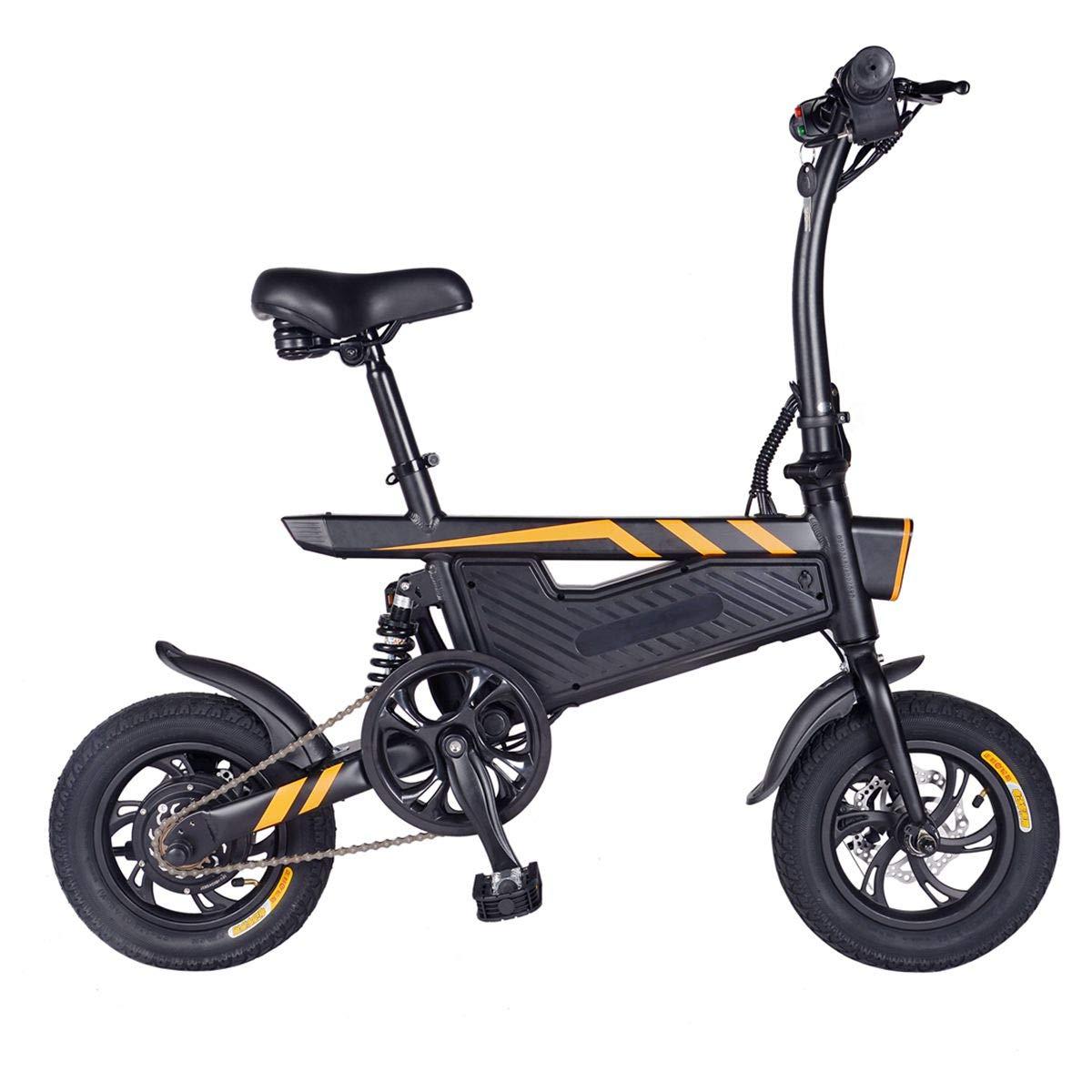 Amazon.com: ziyoujiguang T18 Mini Electric Bike Foldable ...