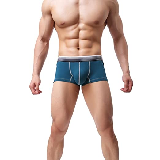 513f4d6994 oldeagle Hot Men Sexy Underwear Print Boxer Briefs Shorts Bulge Pouch  Comfortable Underpants (Blue,