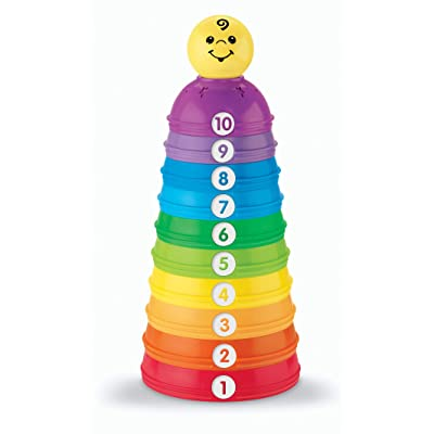 Fisher-Price Brilliant Basics Stack & Roll Cups: Toys & Games [5Bkhe0504096]