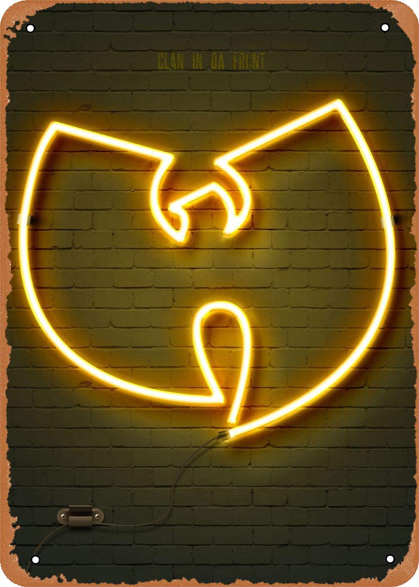 EICOCO Neon Signs Wu Tang Clan Plaque Poster Metal Tin Sign 8