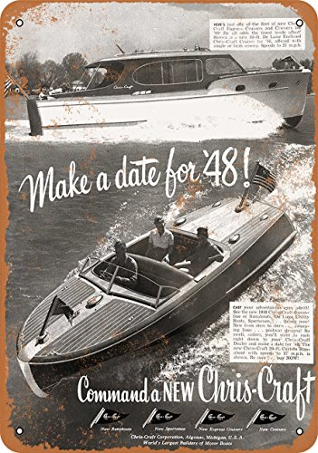 Wall-Color 7 x 10 METAL SIGN - 1948 Chris-Craft Speed Boats - Vintage Look Reproduction -  55375