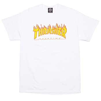 Skateboard Magazine Flame T-Shirt (White)