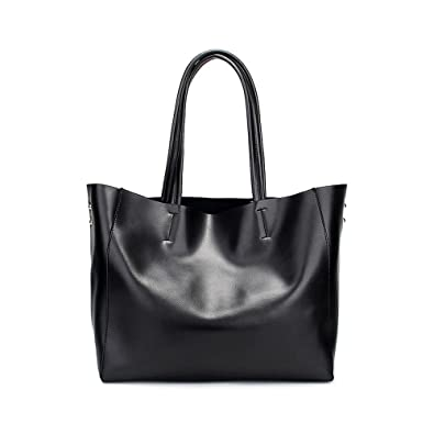 17962cdda1 Viviesta Real Leather Silver Gold Metallic Horizontal Large Oversized  Shoulder Cabas Shopper Tote Bag  Handbags  Amazon.com