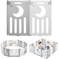 Dripex Parque de juegos para niños, paquete adicional, 2 elementos laterales, 2 paneles, barrera protectora para niños…