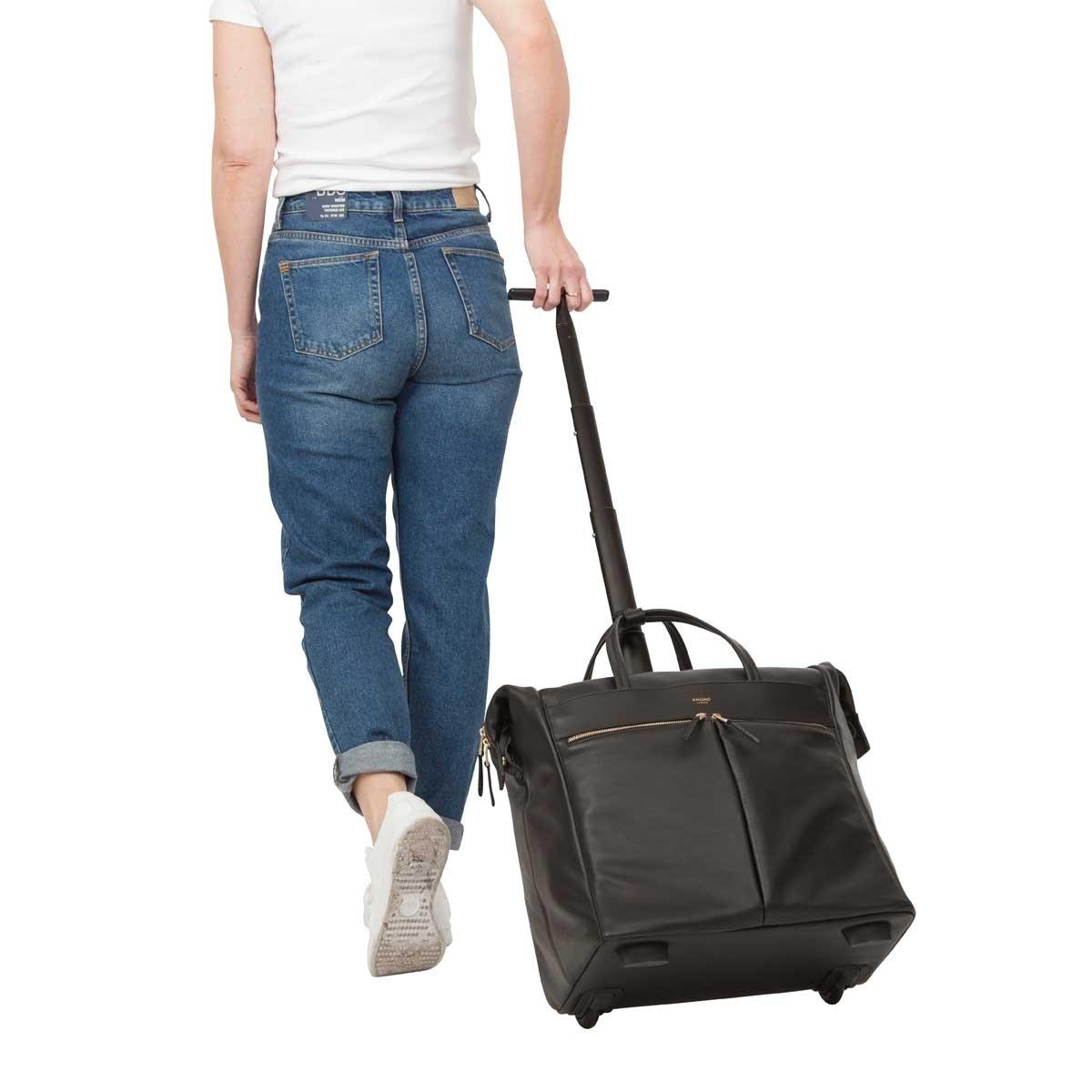 Knomo Luggage Women's Sedley Weekender Bag, Black, One Size