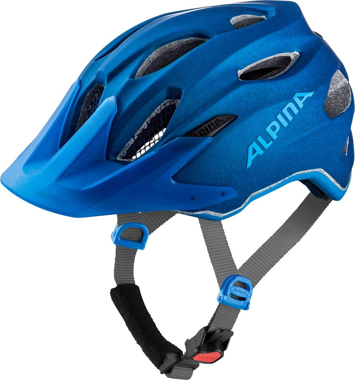 ALPINA Carapax JR Kinder-Fahrradhelm // Blue, Ausfuuml;hrung:Blue