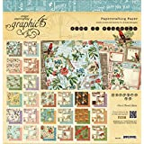 Graphic 45 Double-Sided Paper Pad 12-Inchx12-Inch 24/Package-Time to Flourish, 24 Designs