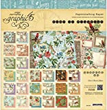 Graphic 45 Time to Flourish Pad for Scrapbooking, 12 by 12-Inch