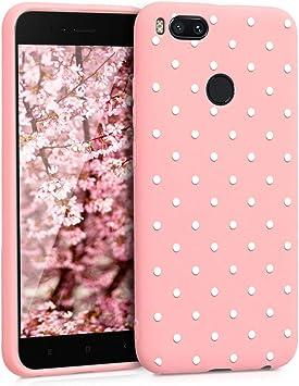 ZhuoFan Funda Xiaomi Mi A1, Cárcasa Silicona Rosa con Dibujos ...