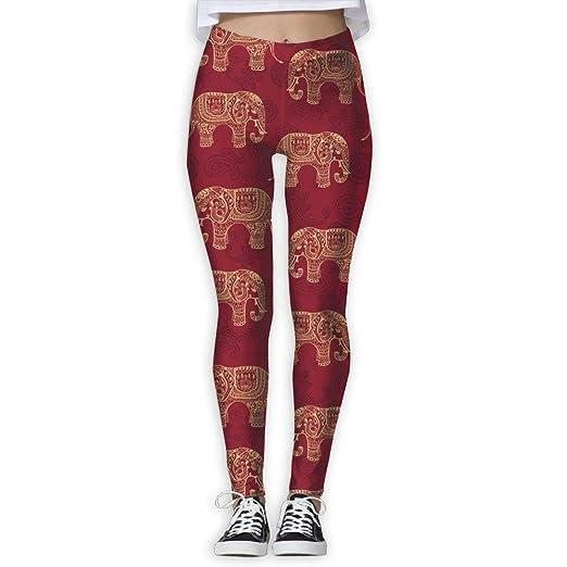 Sushen Elefantes De Henna Pantalones De Yoga De Bo...
