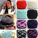 Fincos 100g Thickened Sub-Thread Soft Cotton Knitting Wool Yarn Scarf Hat Sweater Yarn Ball - (Color: Black)