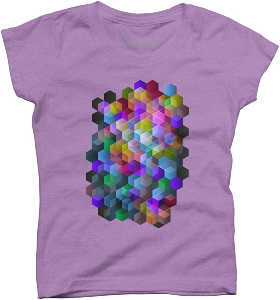 Design By Humans Kaleidoscope Girls Youth Graphic T Shirt
