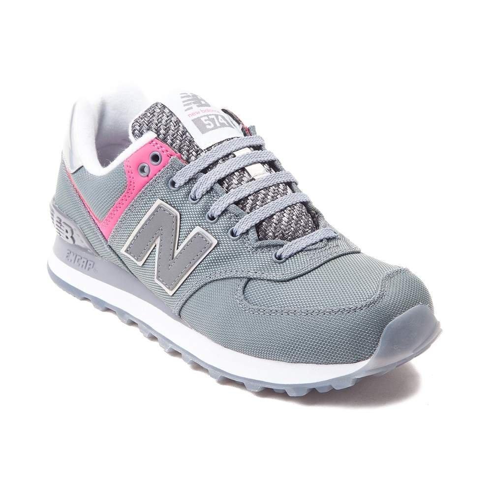 New Balance Women's WL574 CORE Plus-W Lifestyle Sneaker B01NBRJ11J 7 M US|Grey Pink 1520