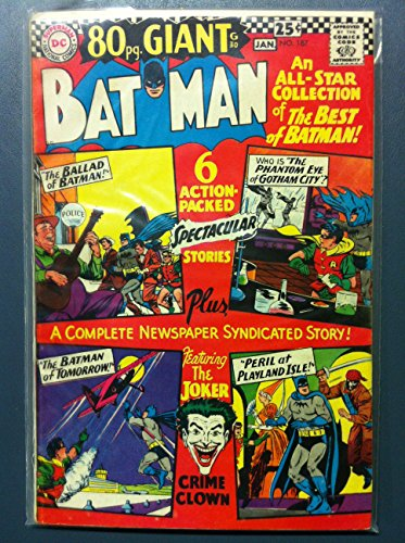- BATMAN #187 The Clock: Batman's First Case (First app) (Giant - 80 pgs) Jan 67 Very Good to Fine (5 out of 10) Lightly Used by Mickeys Pubs