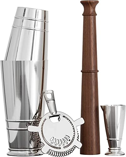 Crafthouse-by-Fortessa-Professional-Barware/Bar-Tools-by-Charles-Joly,-Boston-Shaker-Gift-Set,-Silver