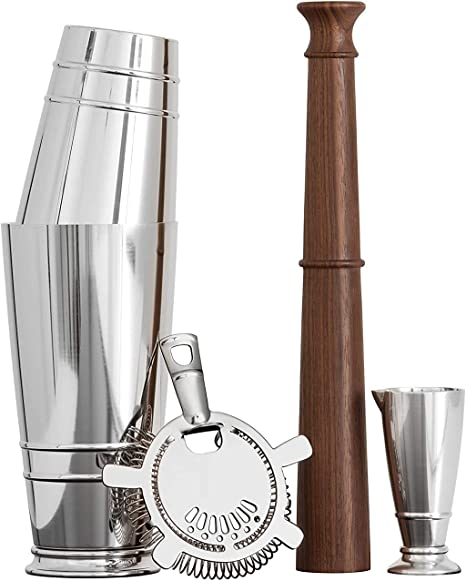 Silver Boston Shaker Gift Set Crafthouse by Fortessa Professional Barware//Bar Tools by Charles Joly