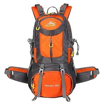50L Mochila CHANGKU Nylon Bolsa Multifuncional Daypack Mochila de deporte impermeable Fácil de llevar Mochilas para el senderismo al aire libre Trekking ...