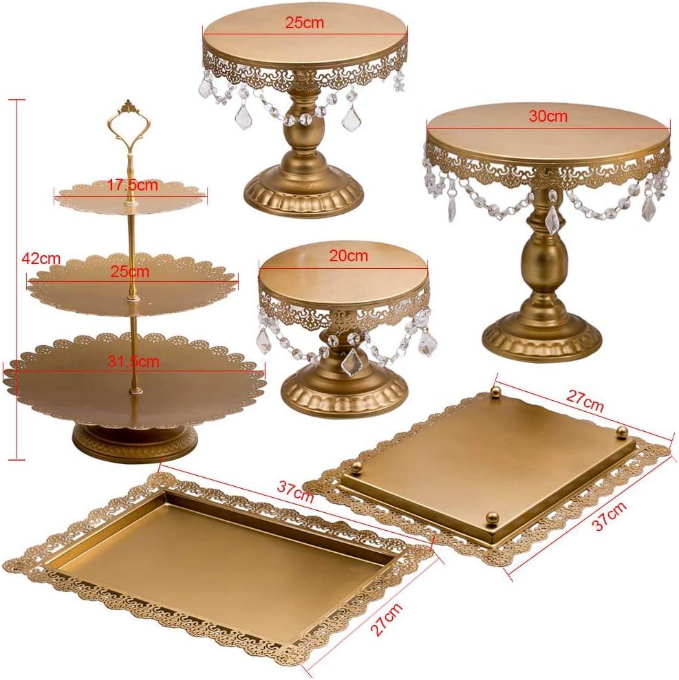 3 PCS Crystal Decor Metal Cake Holder Cupcake Stand Set For Wedding Party