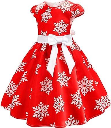 COOKDATE Chica Navidad Estampado de Copo de Nieve Falda Princesa ...