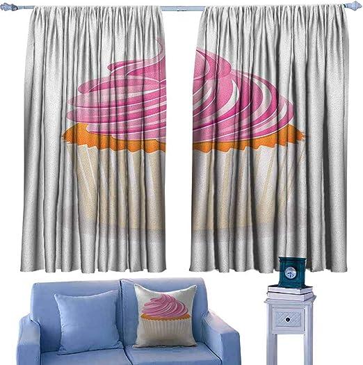 AndyTours - Cortina para Puerta corredera, diseño étnico Dibujado a Mano en Naranja y Rosa con Motivos Triangulares atemporales y Flechas, eficiencia energética, oscurecimiento de habitación: Amazon.es: Hogar