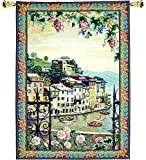 Manual Woodworkers & Weavers Grande Tapestry Wall Hanging, Portofino, 56 x 80-Inch