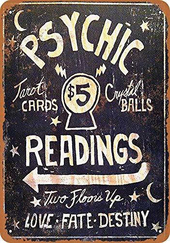 Fsdva 12 x 16 Metal Sign - Psychic Readings $5 Tarot Cards Crystal Balls - Vintage Wall Decor Art