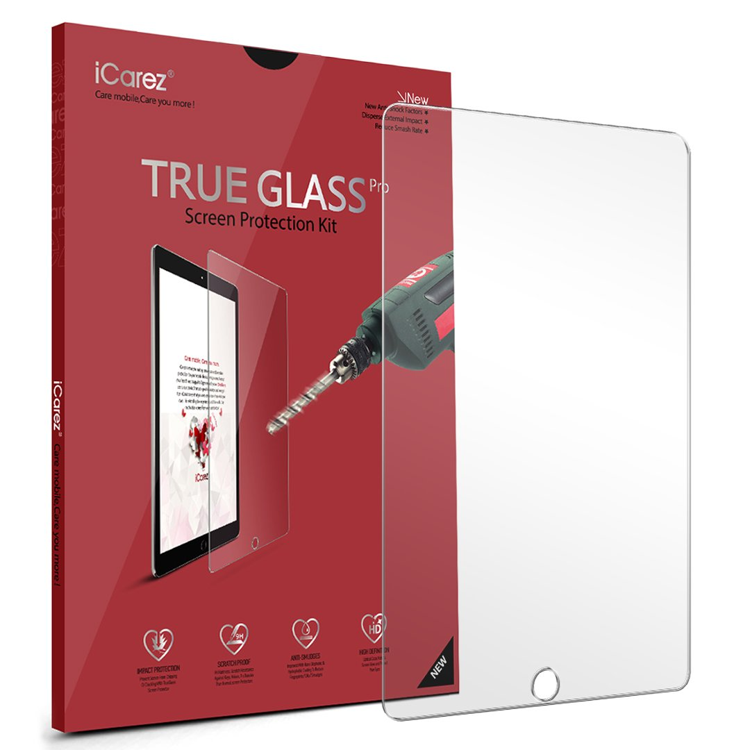 Surface pencil compatible tempered glass screen protector with 2 5d - Amazon Com Icarez Tempered Glass Screen Protector For Apple 10 5 Inch Ipad Pro Premium Easy Install 1 Pack 9h 0 3mm 2 5d With Lifetime Replacement