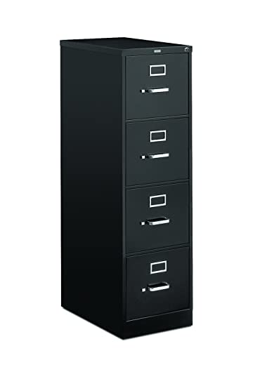 HON 4 Drawer Letter File   Full Suspension Filing Cabinet With Lock, 52