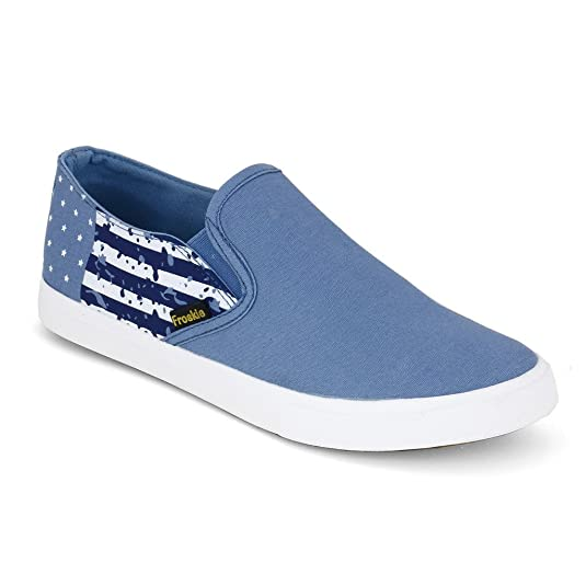 29b17ef4b31 Froskie Men s Casual Black Blue Dark Blue Canvas Shoes FR-13  Buy Online at  Low Prices in India - Amazon.in