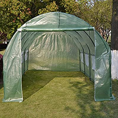 BenefitUSA GH052 Larger Hot Green House 20'X10'X7' Walk in Outdoor Plant Gardening Greenhouse by BenefitUSA