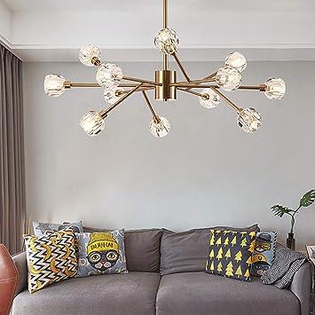 YXTK Lampara Sputnik Dorada,Moderno Iluminación Colgante ...