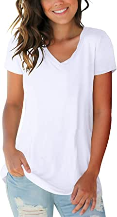 Women Summer Tops Womens Fashion V Neck Cutout Tunic Tops Blouse Tees Short Sleeve Tie Dye Shirts with Pockets
