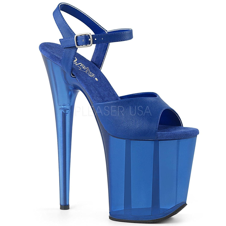 Pleaser Womens FLAMINGO-809T/BLUPU/M Sandals B07BFKF6ZC 5 B(M) US
