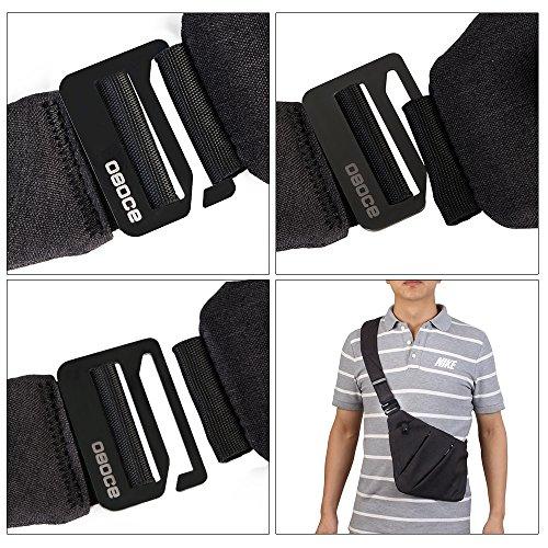 Caden Sling Bag Shoulder Chest Cross Body Backpack Lightweight Casual Outdoor Sport Travel Hiking Multipurpose Anti Theft Crossbody Pack Daypack Bag Up to 7.9 Inch Tablet for Men Women (Black)