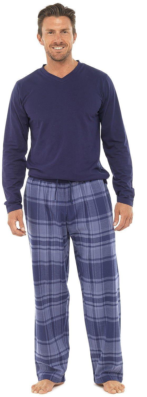 2 pezzi, lunghezza intera, pigiami, di lusso, caldi, invernali, termici, Maglia Top-Pantaloni pigiama da uomo in flanella da ragazzo Pjs Pj\'S Gift taglia: S-XXL Blue Check Large Lora Dora 10371#HT735#GREY/BLUE#LARGE